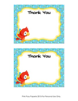 Parrot Flat Thank You Note Cards