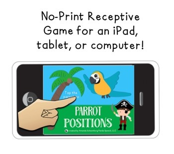 Parrot/Pirate Positional Vocabulary Unit!  Speech Therapy Activities