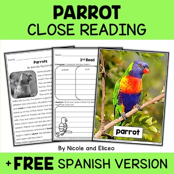 Close Reading Parrot Activities