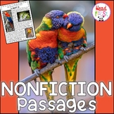 Parrots Nonfiction Guided Reading Comprehension and Fluency Passages