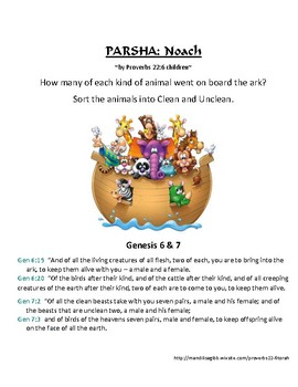 Parsha Noach - Animals on Noah's Ark