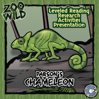 Parson's Chameleon -- 10 Resources -- Coloring Pages, Reading & Activities