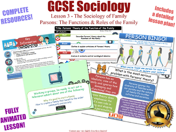 Parsons on Functions of The Family - Sociology [GCSE Sociology - L3/20] Families