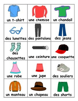 Clothing / Vêtements FRENCH Games
