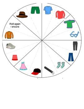 Clothing / Vêtements FRENCH Games