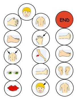 Parts of the Body ESL Games