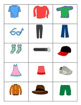 Clothing FOREIGN LANGUAGE Games (Spanish, Italian, German)