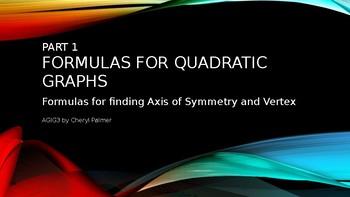Part 1 Quadratic Graphs AoS and Vertex