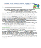 5th TN Social Studies Standards 5.27-5.41 Industrial America, Westward Expansion