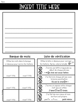 """Part 1: YEARLY Themed French Writing Mats / """"Tapis"""" d'écriture"""