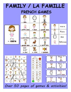 Family / La Famille FRENCH Games
