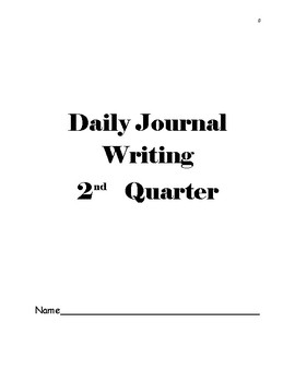 Part 2 Daily Writing Journal