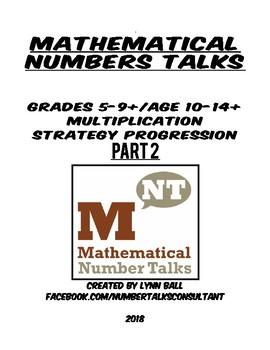 Part 2: Multiplication Number Talks Progression for Grades 5-9+