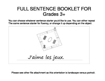 Hobbies / Passe-temps FRENCH Workbook
