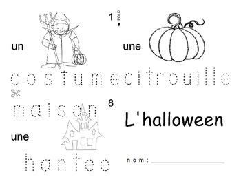 Halloween FRENCH Workbook