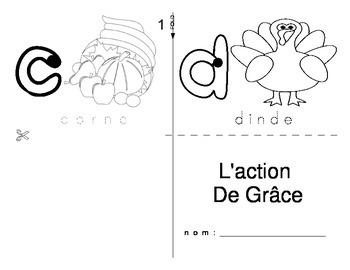 Thanksgiving / L'action de Grace FRENCH Workbook