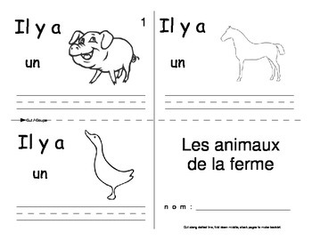 Farm Animal FRENCH Workbook