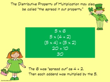 Part 2 of the Distributive Property of Multiplication