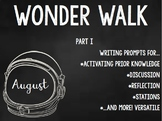 Part I (Auggie's POV) Wonder Walk - Writing Prompts for RJ