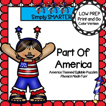 LOW PREP America Themed Syllable Puzzles