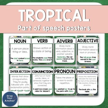 Part Of Speech Posters -  Tropical