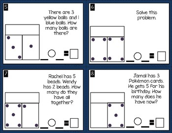 Part Park Whole Addition Story Problem Scoot/Task Cards