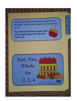 Part, Part, Whole 2, 3, 4: File Folder