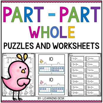 Part Part Whole Puzzles and Worksheets (Addition and Subtraction)