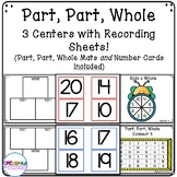 Part, Part, Whole Centers with Recording Sheets