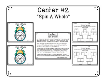 Part Part Whole Centers with Recording Sheets