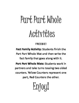 Part Part Whole Activities