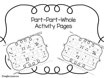 Part-Part-Whole Activity Pages