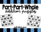 Part-Part-Whole Addition Puzzle Math Center - Two-Digit an