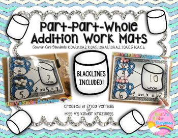 Part-Part-Whole Addition Work Mats