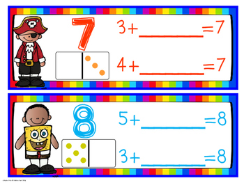 Part Part Whole Addition and Subtraction Wipe and Write