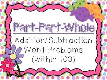 Part Part Whole Addition/Subtraction Word Problem Task Car