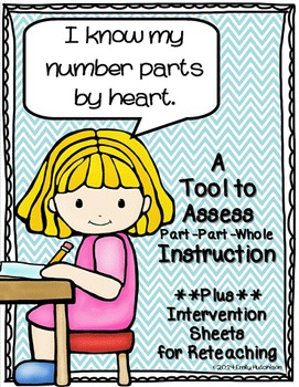 Part Part Whole Assessments and Intervention Sheets