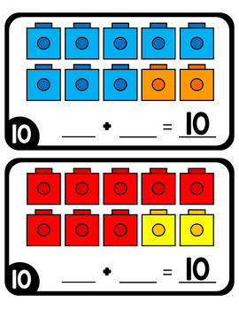 Part Part Whole Cube Counting and Equation Mats