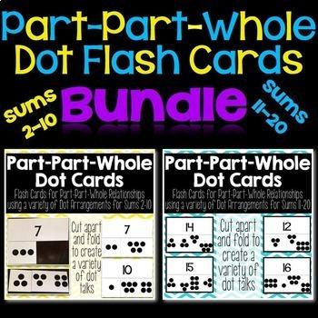 Part-Part-Whole Dot Flash Cards {Bundle}