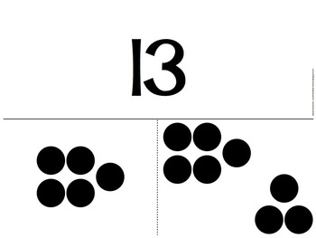 Part-Part-Whole Dot Flash Cards for Sums 11-20