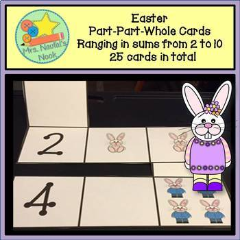 Part Part Whole Number Cards - Easter