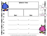 Part Part Whole Fact Families Board and Activity Sheet