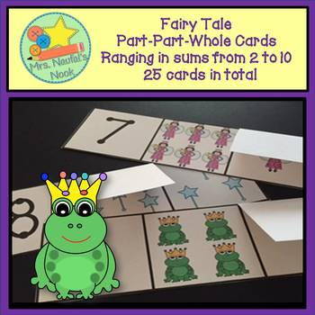 Part Part Whole Number Cards - Fairy Tale Theme