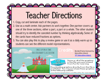 Part Part Whole Fractions Game