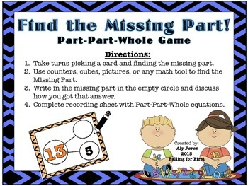Part-Part-Whole Game! Finding the Missing Part Math Game