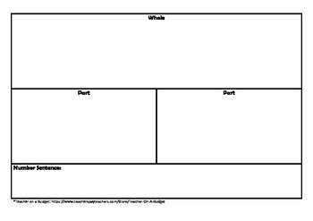 Part Part Whole Interactive Activity or Worksheet