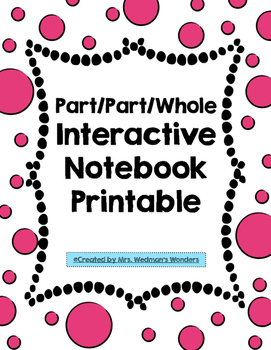 Part/Part/Whole Interactive Notebook Entry