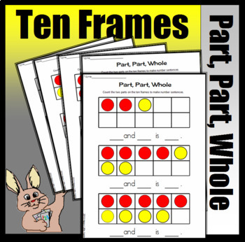 Part, Part, Whole Joining Numbers - Making Number Sentences (Colored)