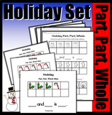 Holiday Part, Part, Whole With Ten Frames (Colored Mats & Worksheets)