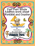 Part Part Whole Mat and Work Sheet Common Core and MAFS Envision Math